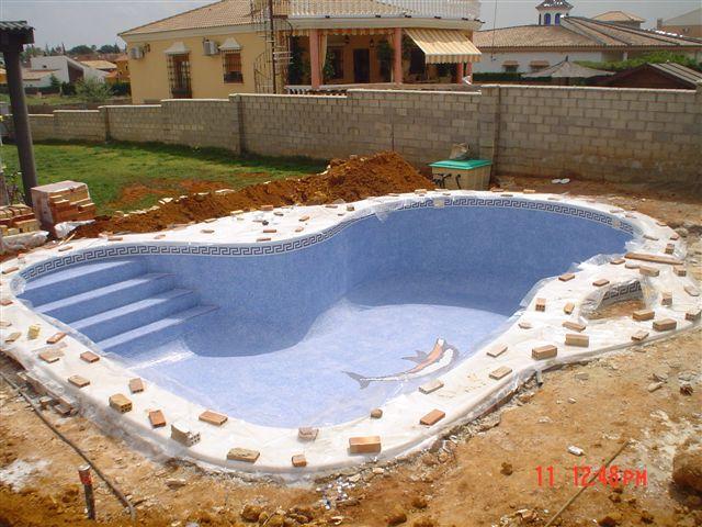 proceso de construcción de piscinas